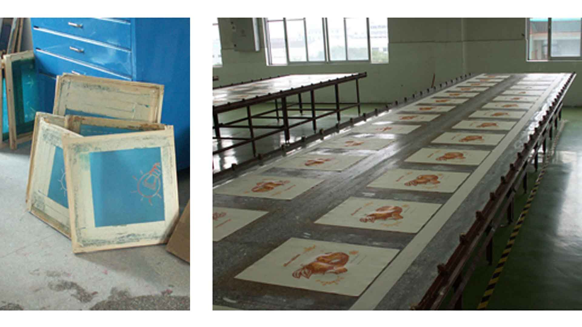 Silk Screen Process - SS Frames and tables