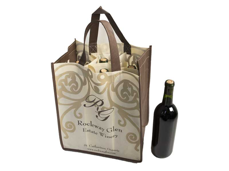 Custom Reusable Wine Carry Bag